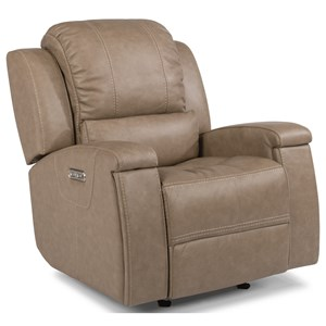 Flexsteel Latitudes - Asher Power Gliding Recliner with Power Headrest