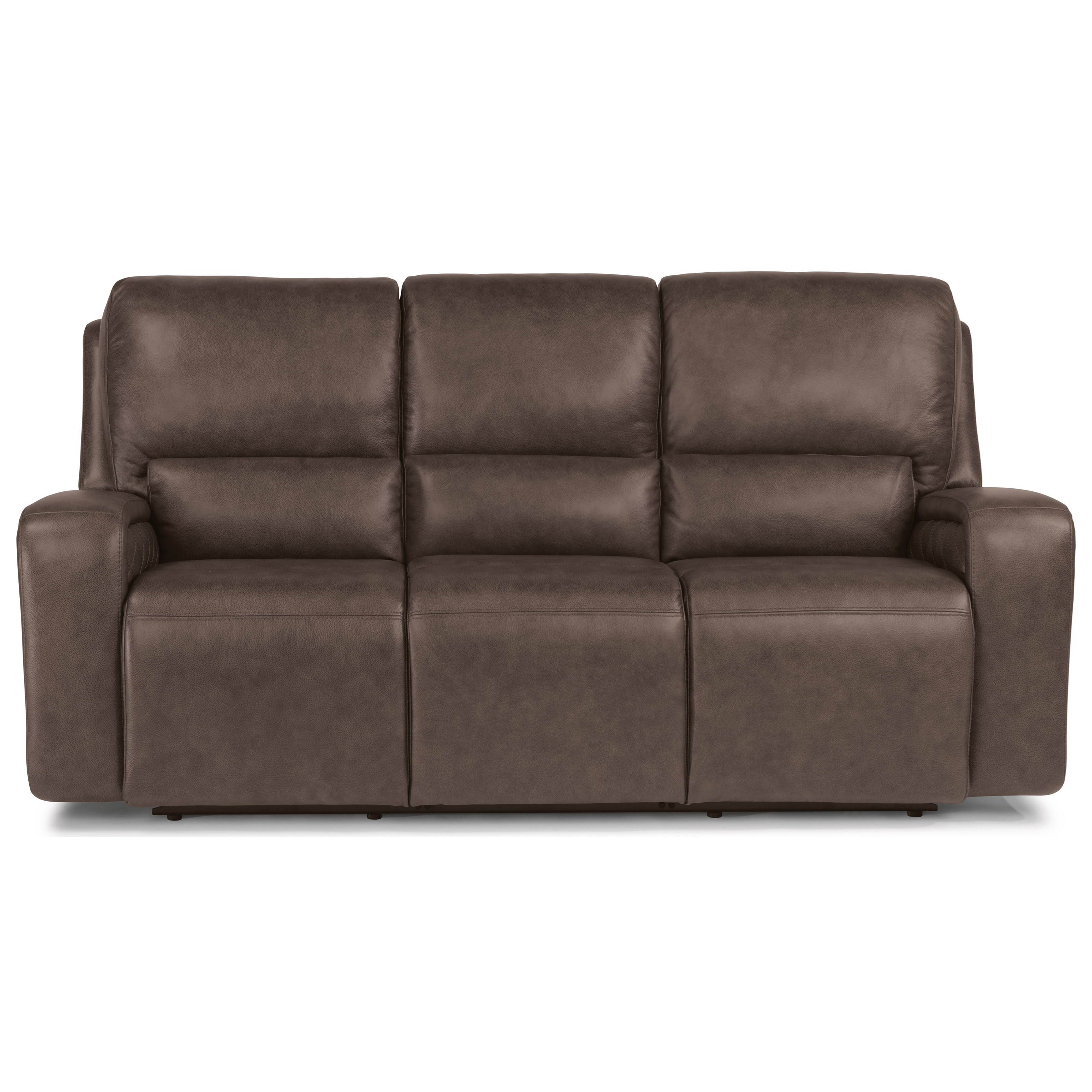 Latitudes - Blade Contemporary Power Reclining Sofa with Power Headrests by  Flexsteel at Rooms and Rest