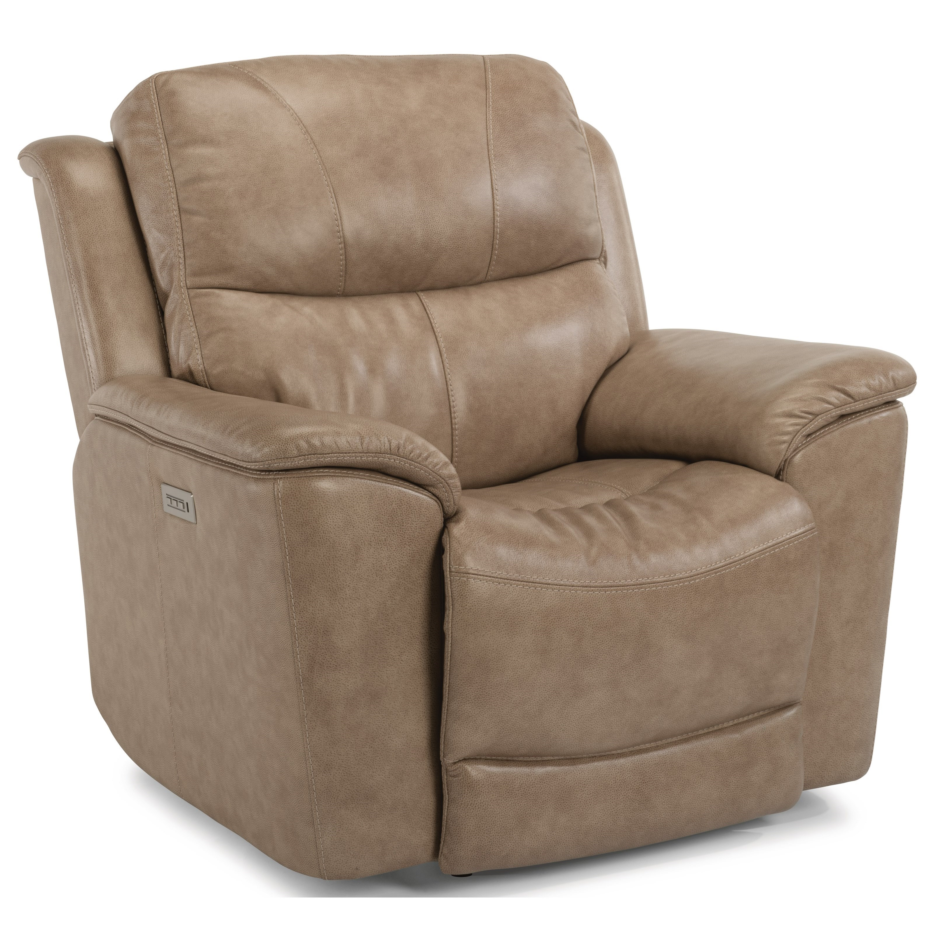 Flexsteel Electric Sofa: Cade Power Lay-Flat Recliner With