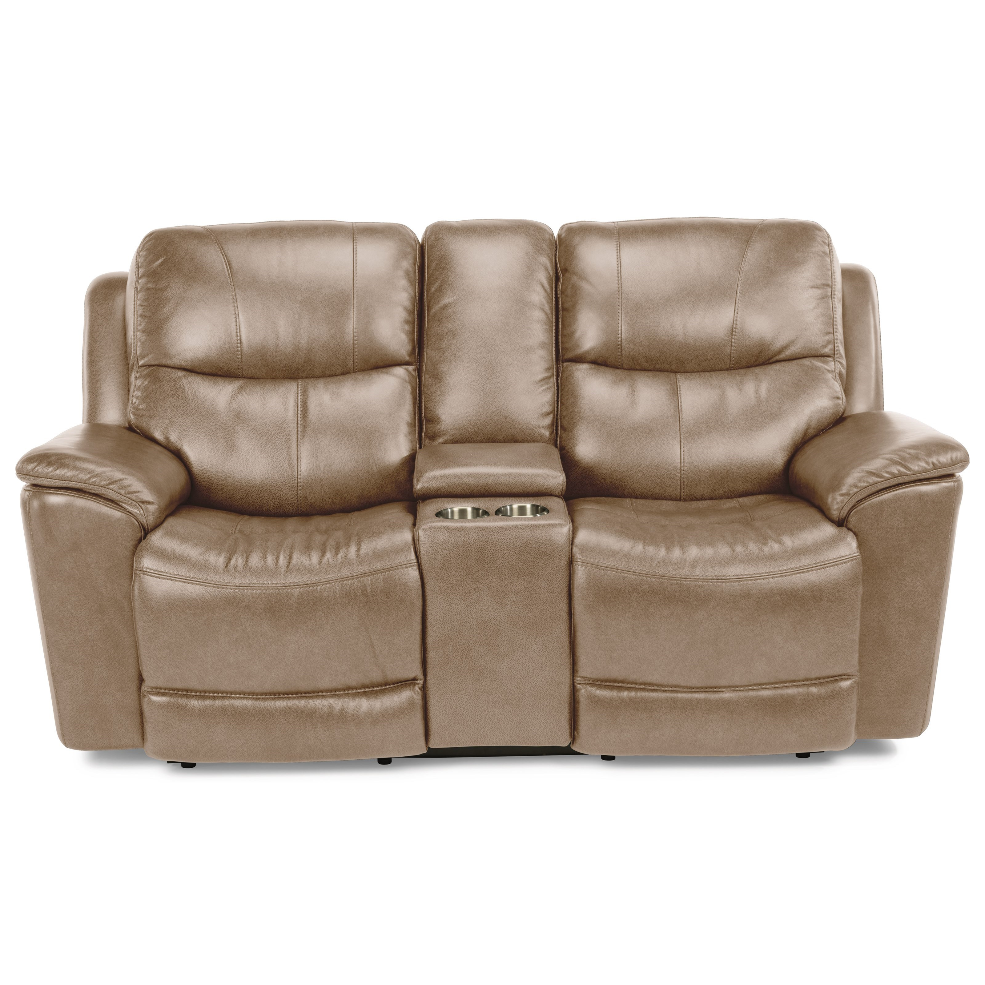 Latitudes - Cade Power Console Love Seat by Flexsteel at Johnny Janosik