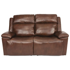 Casual Power Reclining Loveseat with Power Headrest and USB Port