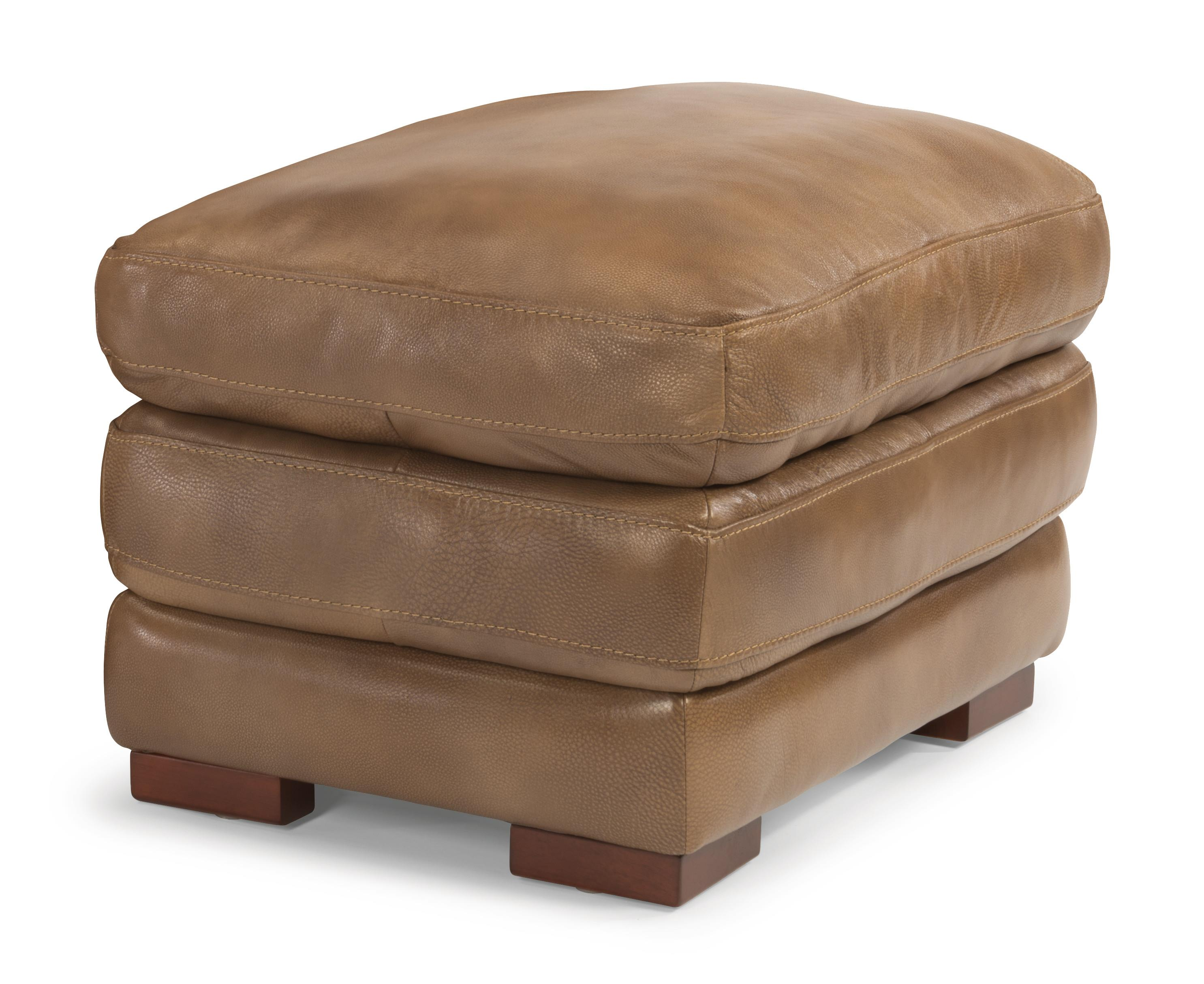 Flexsteel Latitudes - Dylan Leather Ottoman - Item Number: 1127-08-908-06