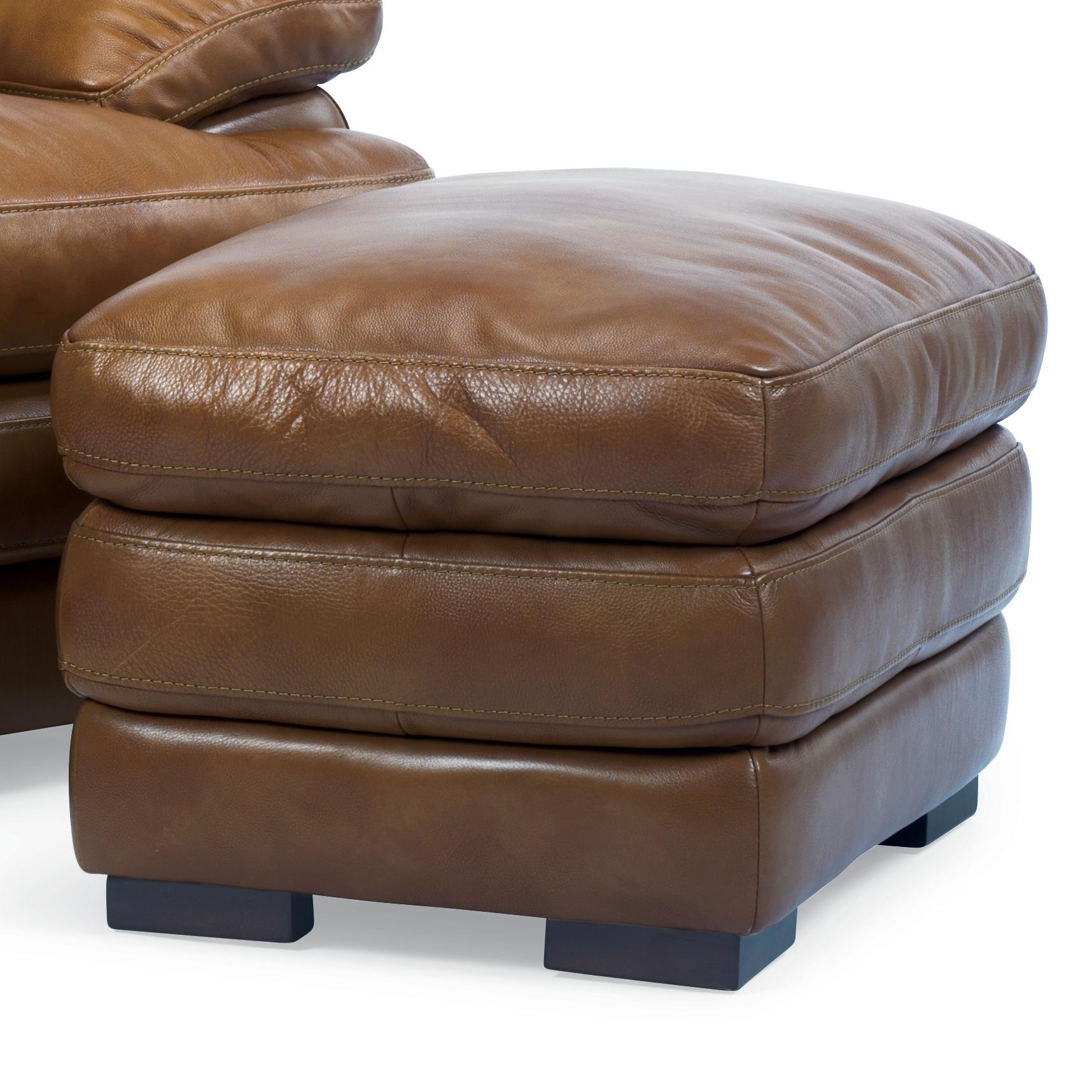 Flexsteel Latitudes - Dylan Leather Ottoman - Item Number: 1127-08-908-80