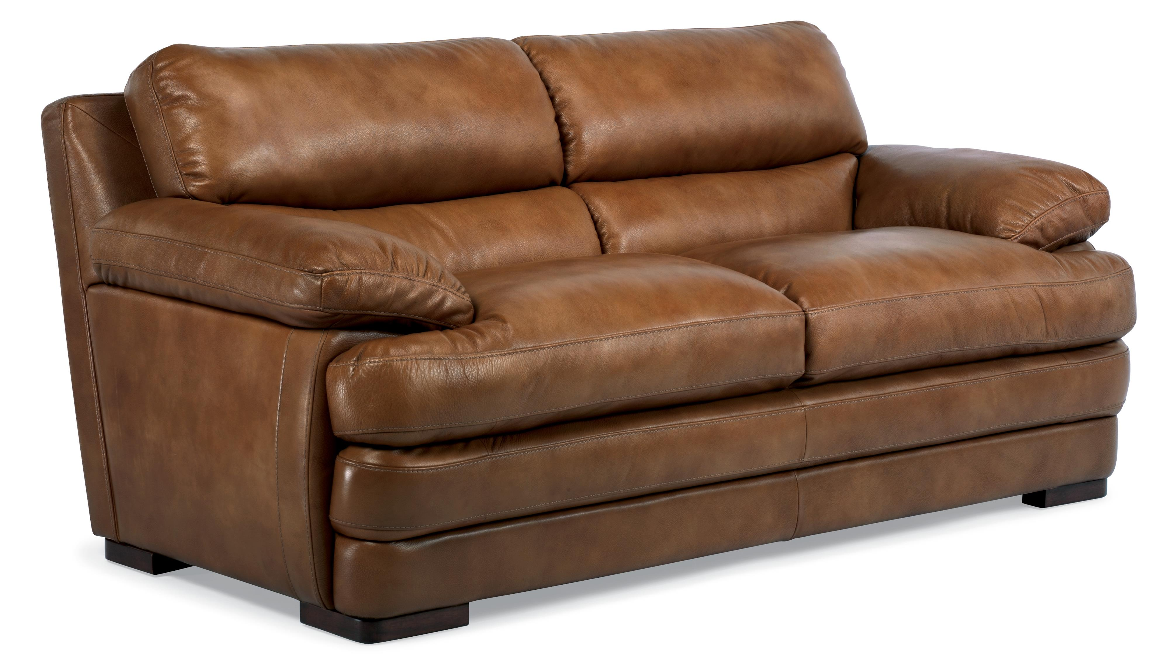 Flexsteel Latitudes Dylan Leather Two Cushion Sofa