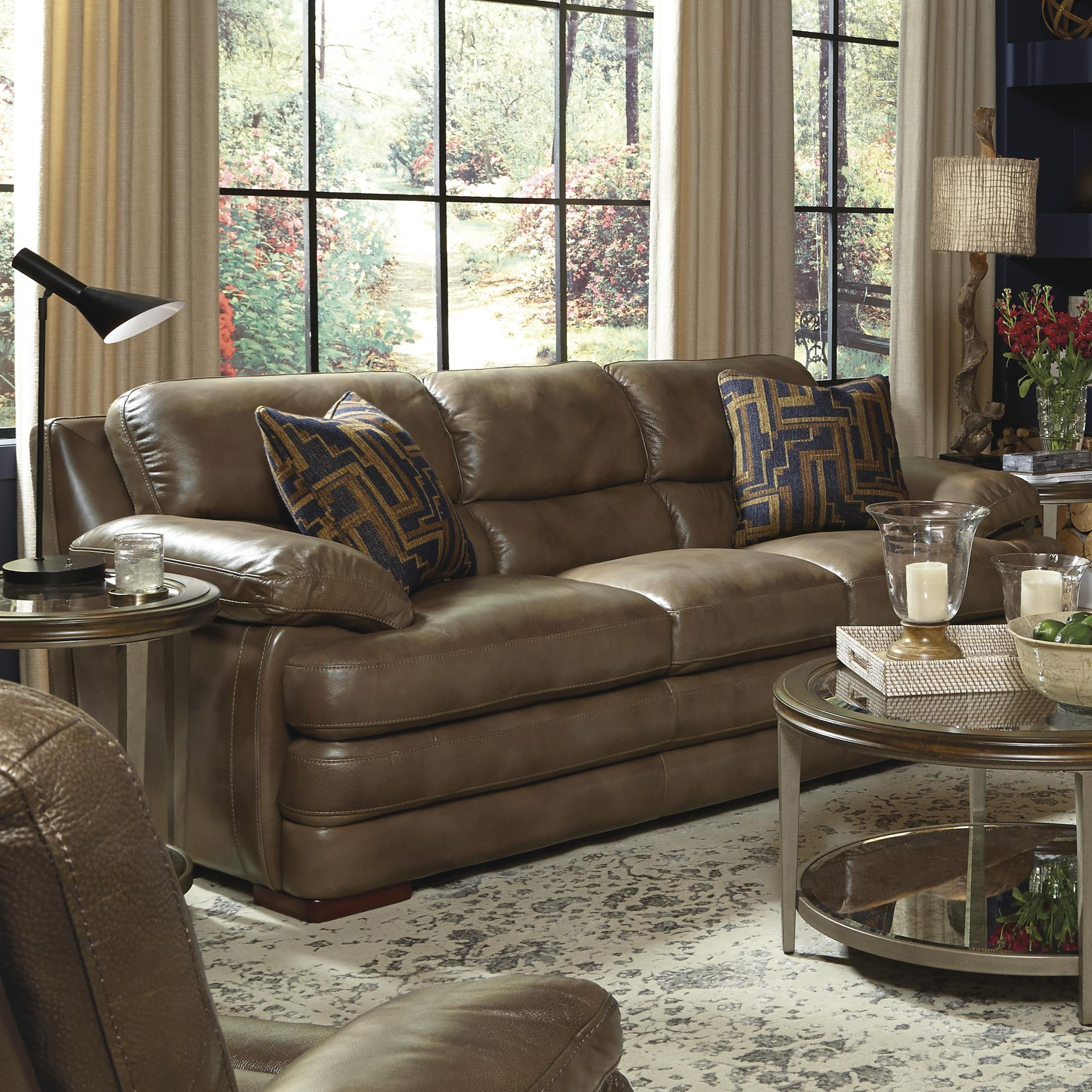 Flexsteel Latitudes Dylan Leather Stationary Sofa Wayside