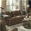 Flexsteel Latitudes - Dylan Stationary Leather Sofa - Item Number: 1127-31-908-06