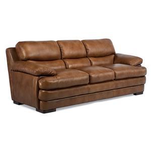 Flexsteel Latitudes   Dylan Stationary Leather Sofa
