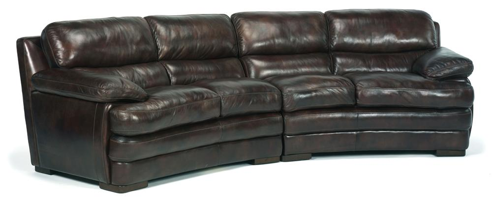 Flexsteel Latitudes - Dylan Leather Conversation Sofa - Item Number: 1127-325+326