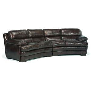 Flexsteel Latitudes - Dylan Leather Conversation Sofa