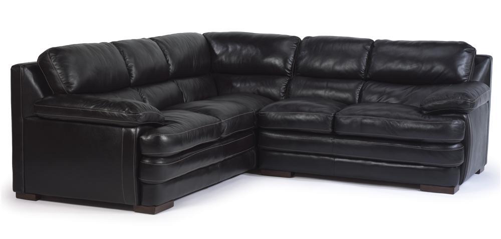 Flexsteel Latitudes   Dylan Leather Sectional With Armless Chair   AHFA    Sofa Sectional Dealer Locator