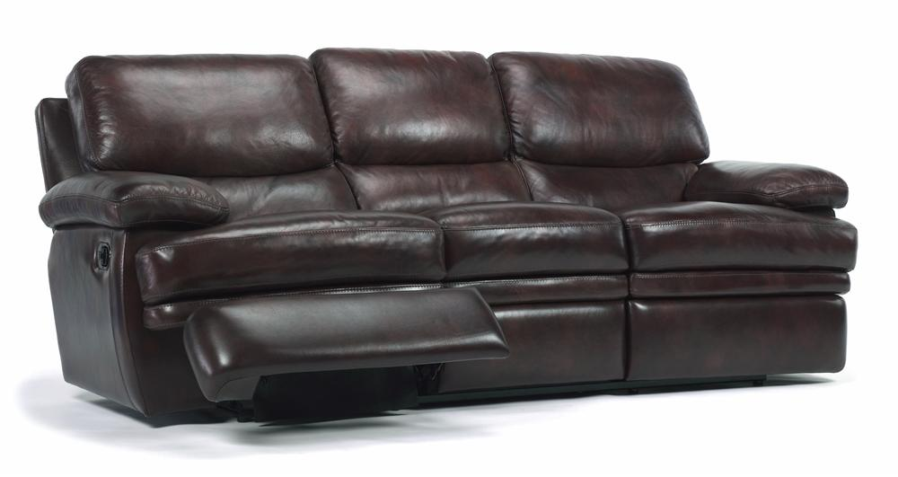Flexsteel Latitudes Dylan Leather Reclining Sofa Reeds