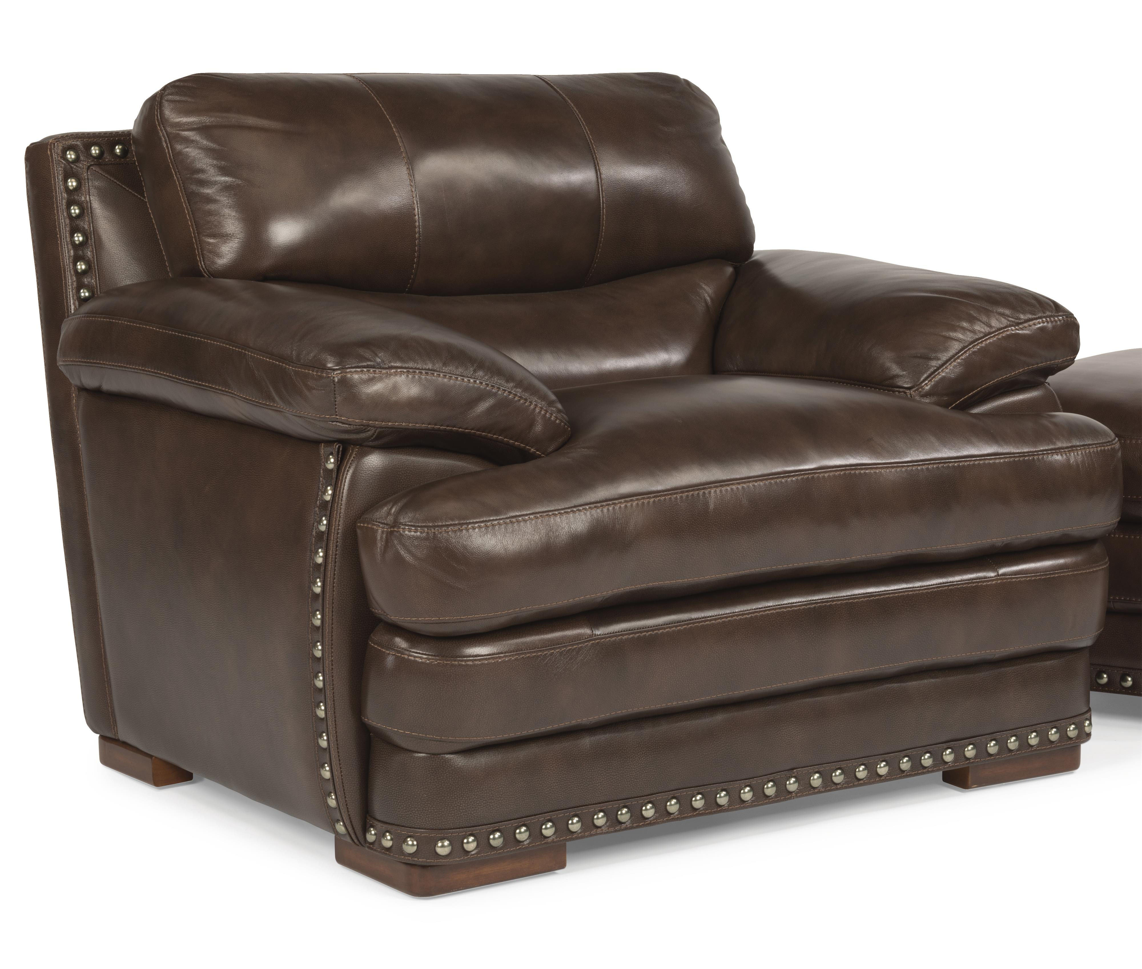 Flexsteel Latitudes - Dylan Leather Chair w/ Nailheads - Item Number: 1627-10-908-70