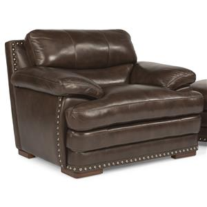 Flexsteel Latitudes - Dylan Leather Chair w/ Nailheads