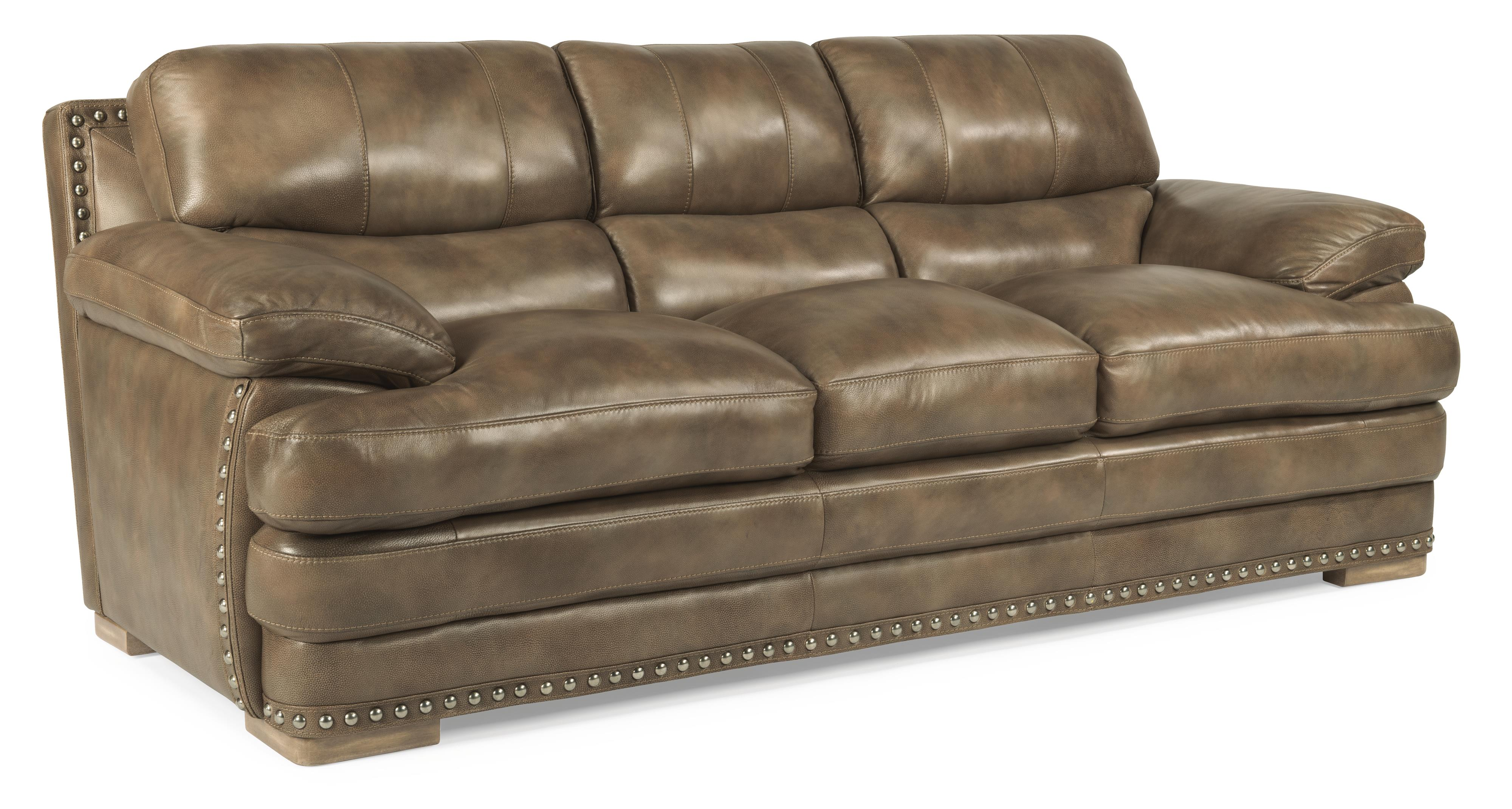 Flexsteel Latitudes Dylan Leather Stationary Sofa With