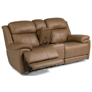Flexsteel Latitudes - Elijah Power Reclining Loveseat with Console