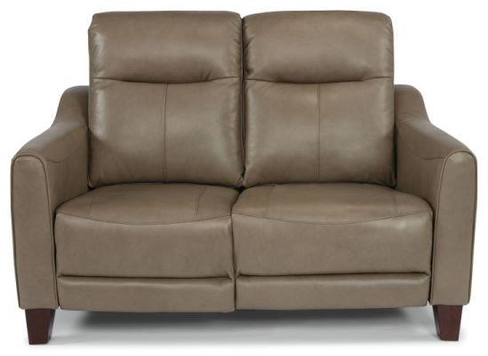 Leather Match Power Reclining Loveseat