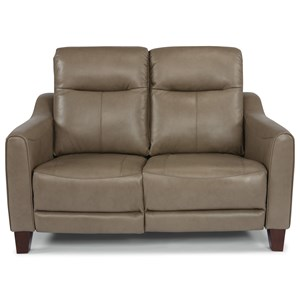 Contemporary Power Reclining Loveseat with Power Headrest and USB Port