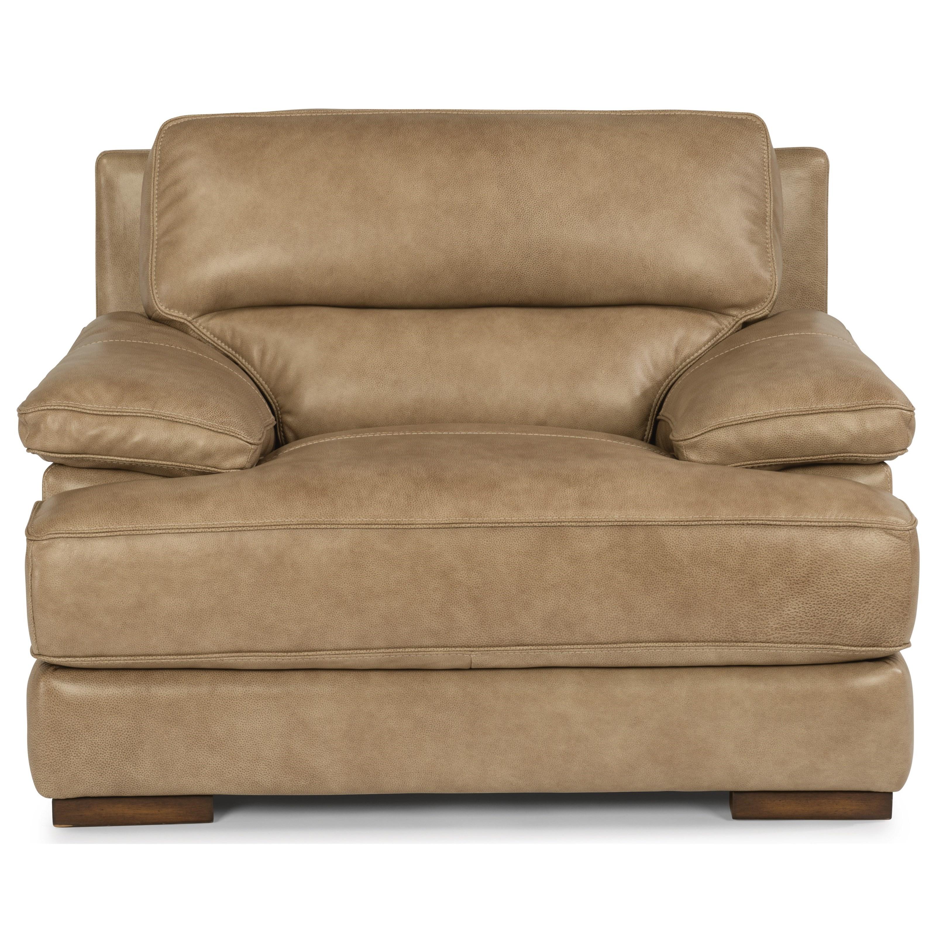 Flexsteel Latitudes   Jade Casual Contemporary Leather Chair