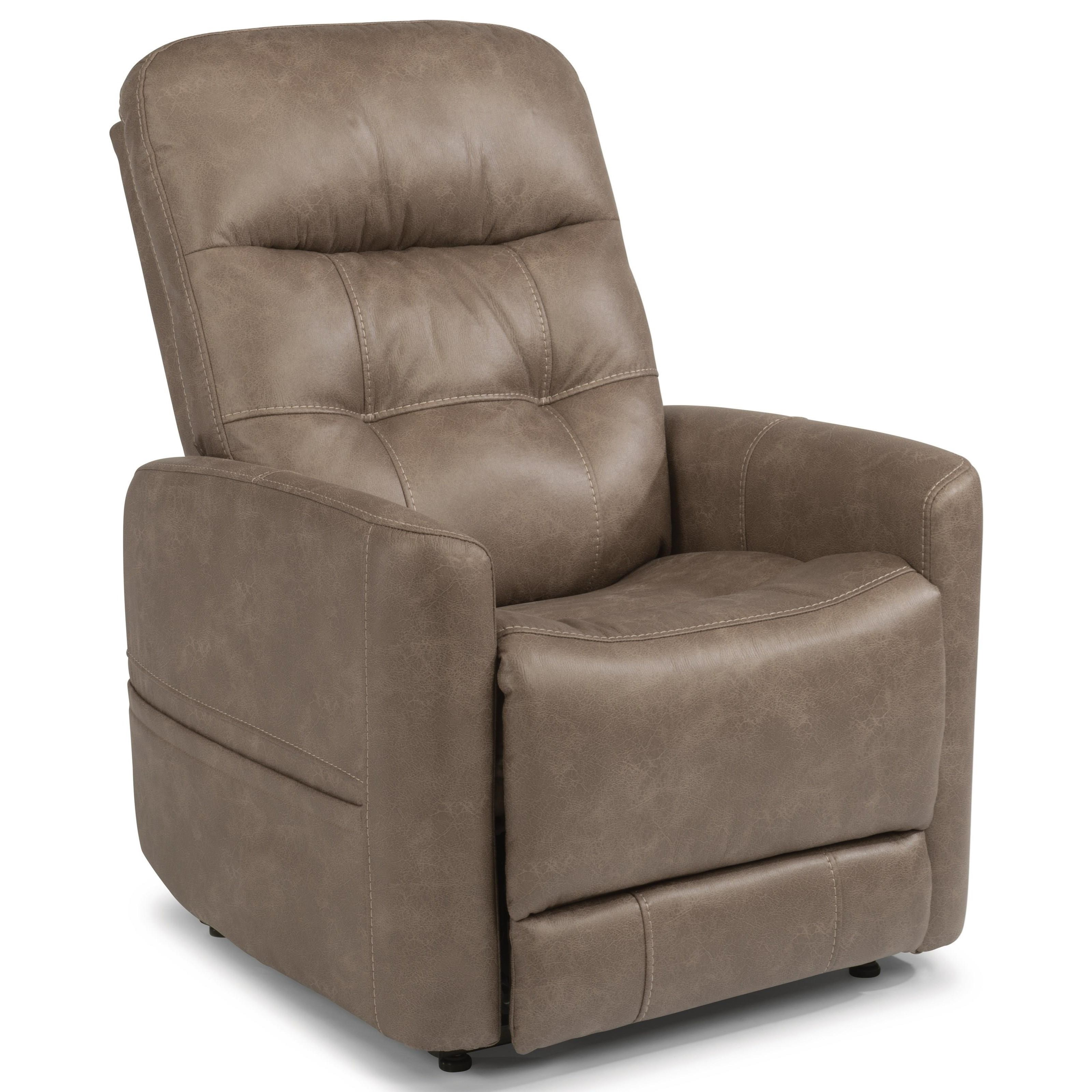 Flexsteel Latitudes Kenner Power Lift Recliner With Power Headrest And Lumbar Fisher Home Furnishings Lift Chairs