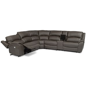 Flexsteel Latitudes - Marina Power Reclining  Console Sectional