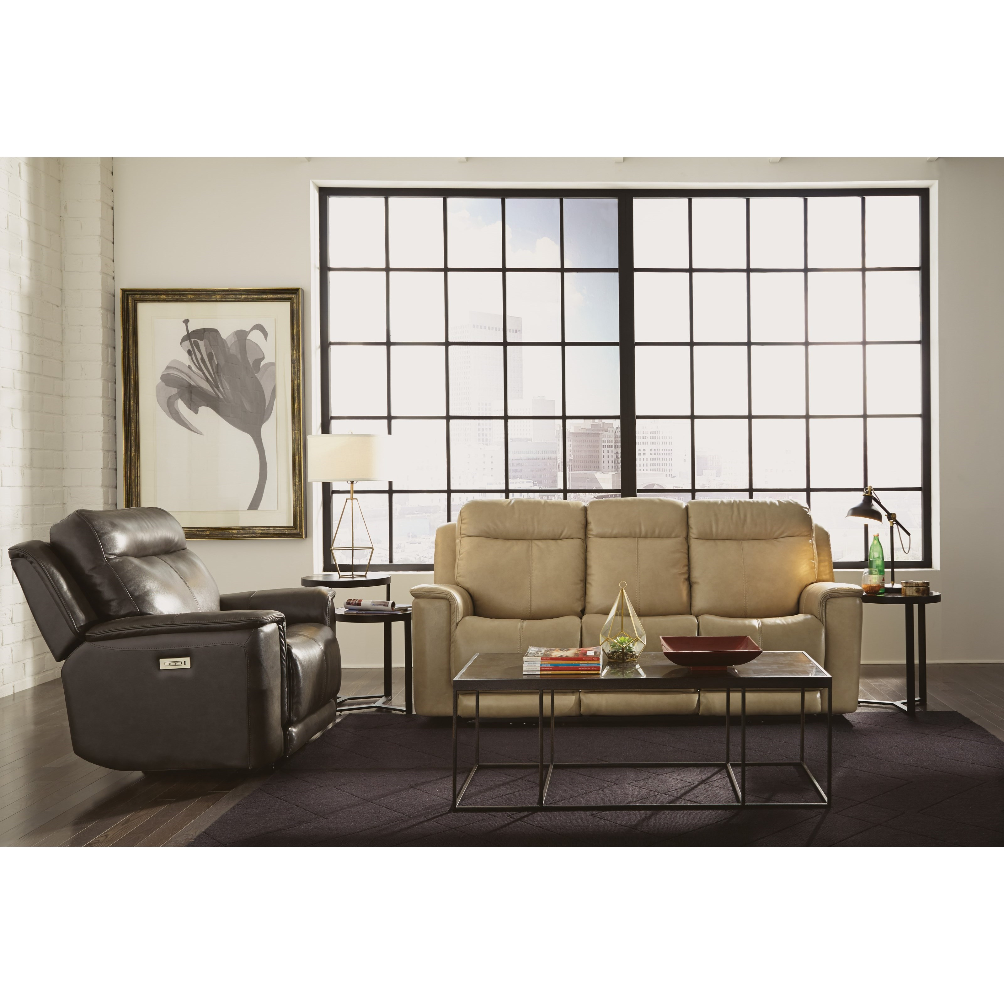 Flexsteel Sofa Locations: Miller 1729-62PH Power Reclining