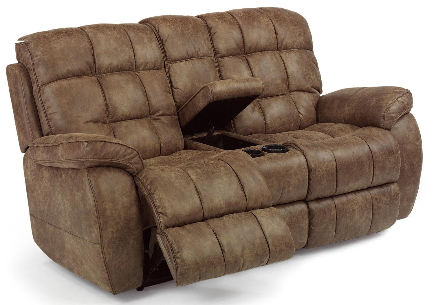 Flexsteel latitudes nashua casual power reclining loveseat with center console olinde 39 s Reclining loveseat with center console