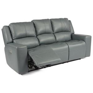 Power Headrest High Leg Reclining Sofa