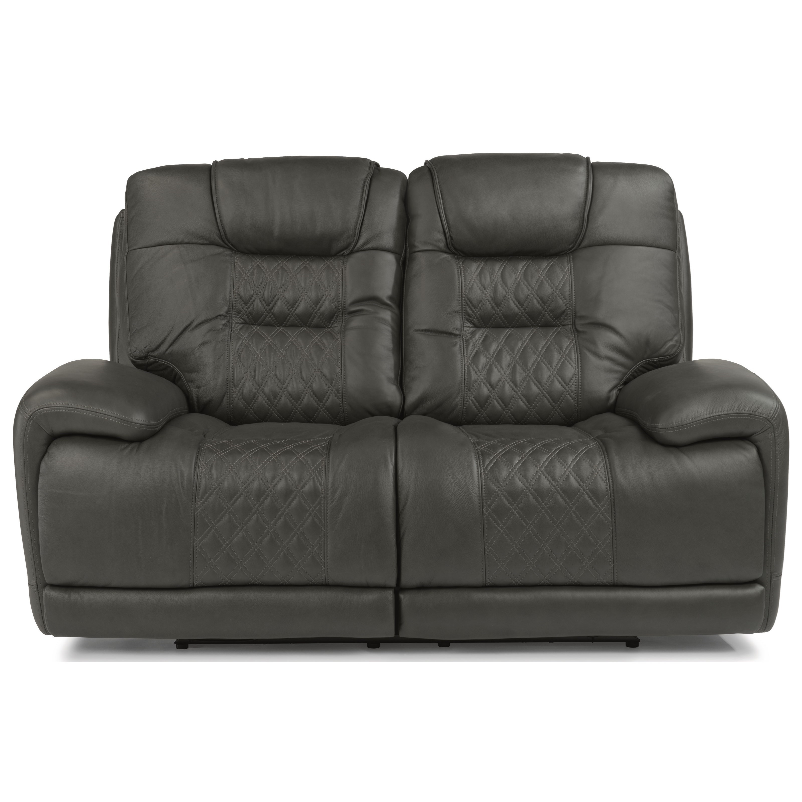 Latitudes - Royce Power Reclining Loveseat with Power Headrest by Flexsteel at Walker's Furniture
