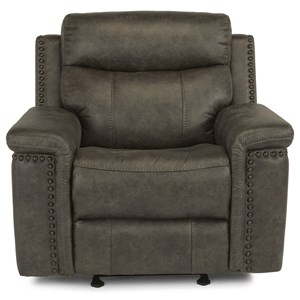 Flexsteel Latitudes - Trevor Power Gliding Recliner with Power Headrest