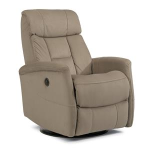 Flexsteel Latitudes Go Anywhere Recliners Hart King Size Power Swivel Glider Recliner