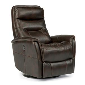 Flexsteel Latitudes Go Anywhere Recliners Alden Queen Power Swivel Glider Recline