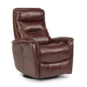 Flexsteel Latitudes Go Anywhere Recliners Alden King Power Swivel Glider Recline