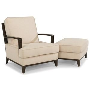 Flexsteel Latitudes-Albright Chair and Ottoman