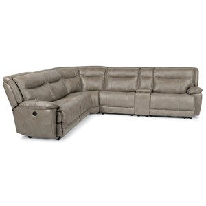 Flexsteel Latitudes-Bliss 6 Pc Reclining Sectional Sofa