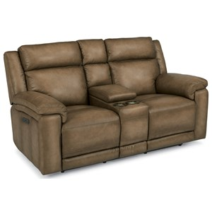 Flexsteel Latitudes-Brody Power Reclining Love Seat with Console