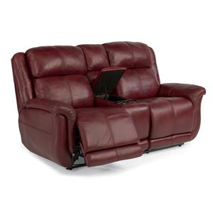 Flexsteel Latitudes-Brookings Power Reclining Loveseat w/ Console