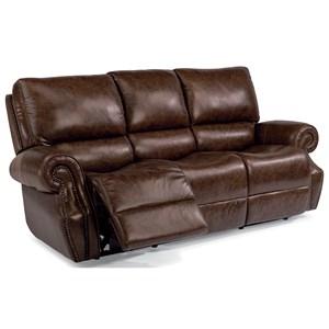 Flexsteel Latitudes-Colton Power Rcl Sofa w/ Pwr Headrest