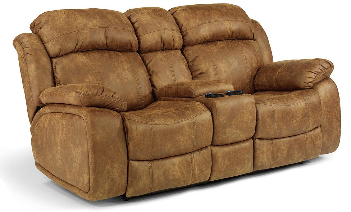 Flexsteel Latitudes-Como Power Reclining Loveseat w/ Console - Item Number 1408-  sc 1 st  Wayside Furniture & Flexsteel Latitudes-Como Power Gliding Rocking Recliner Loveseat ... islam-shia.org