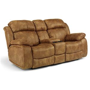 Flexsteel Latitudes-Como Power Reclining Loveseat w/ Console