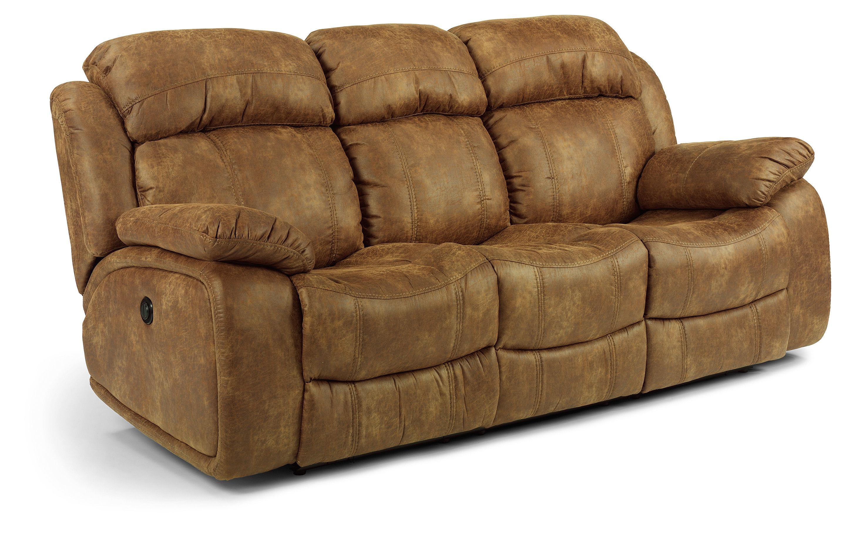 Flexsteel Latitudes-Como Double Power Reclining Sofa - Item Number: 1408-62P