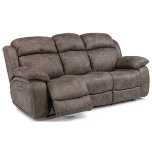 Flexsteel Latitudes-Como Power Reclining Sofa with Power Headrest