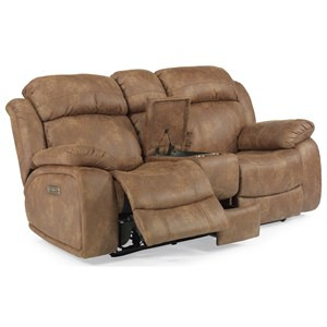 Flexsteel Latitudes-Como Power Reclining Console Love Seat