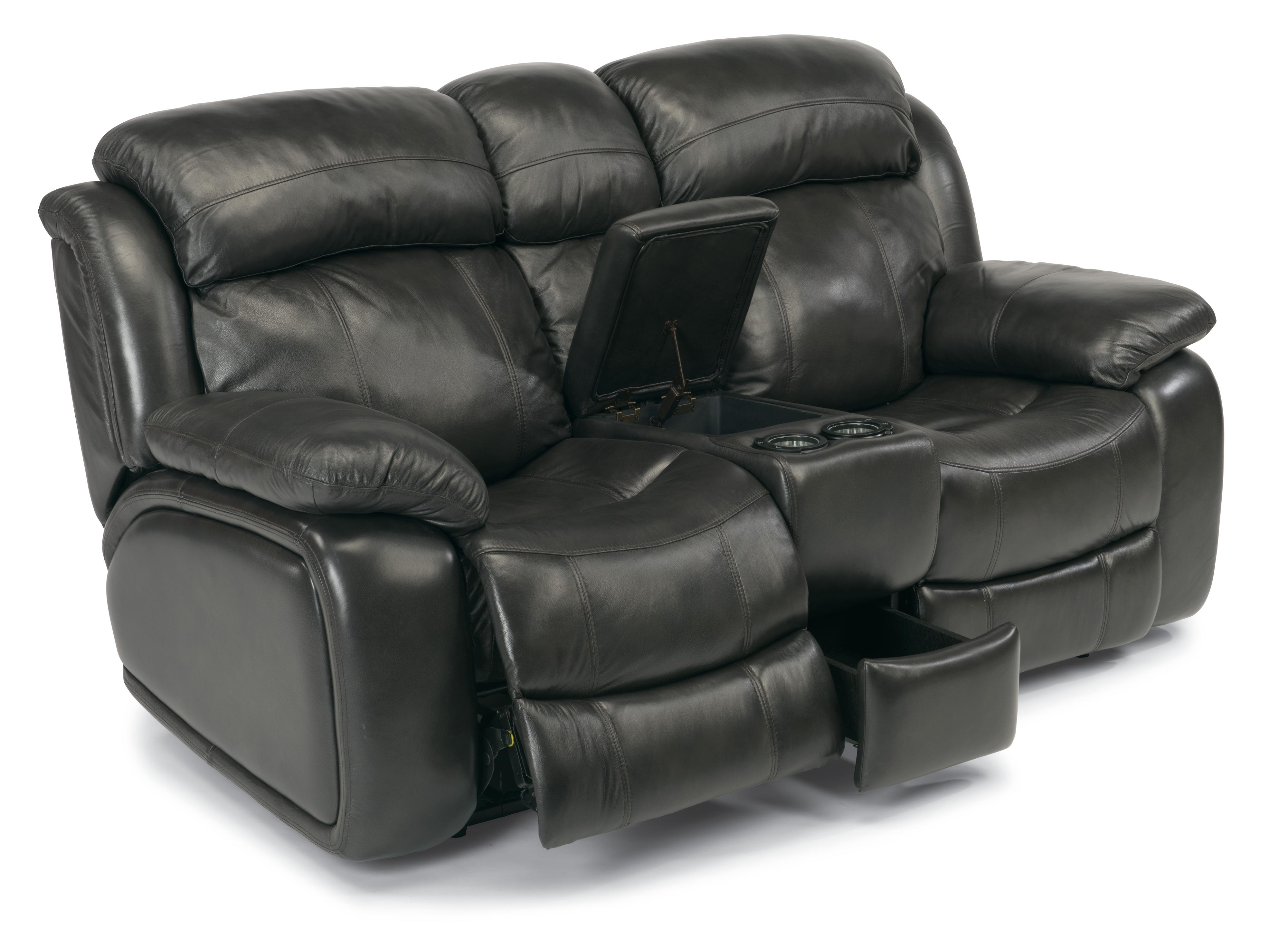 Flexsteel Latitudes-Como Power Reclining Loveseat w/ Console - Item Number: 1409-604P