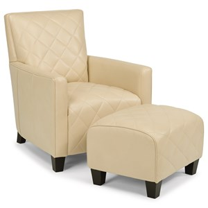 Flexsteel Latitudes-Cristina Leather Chair and Ottoman Set