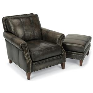 Flexsteel Latitudes-Daltry Chair & Ottoman Set