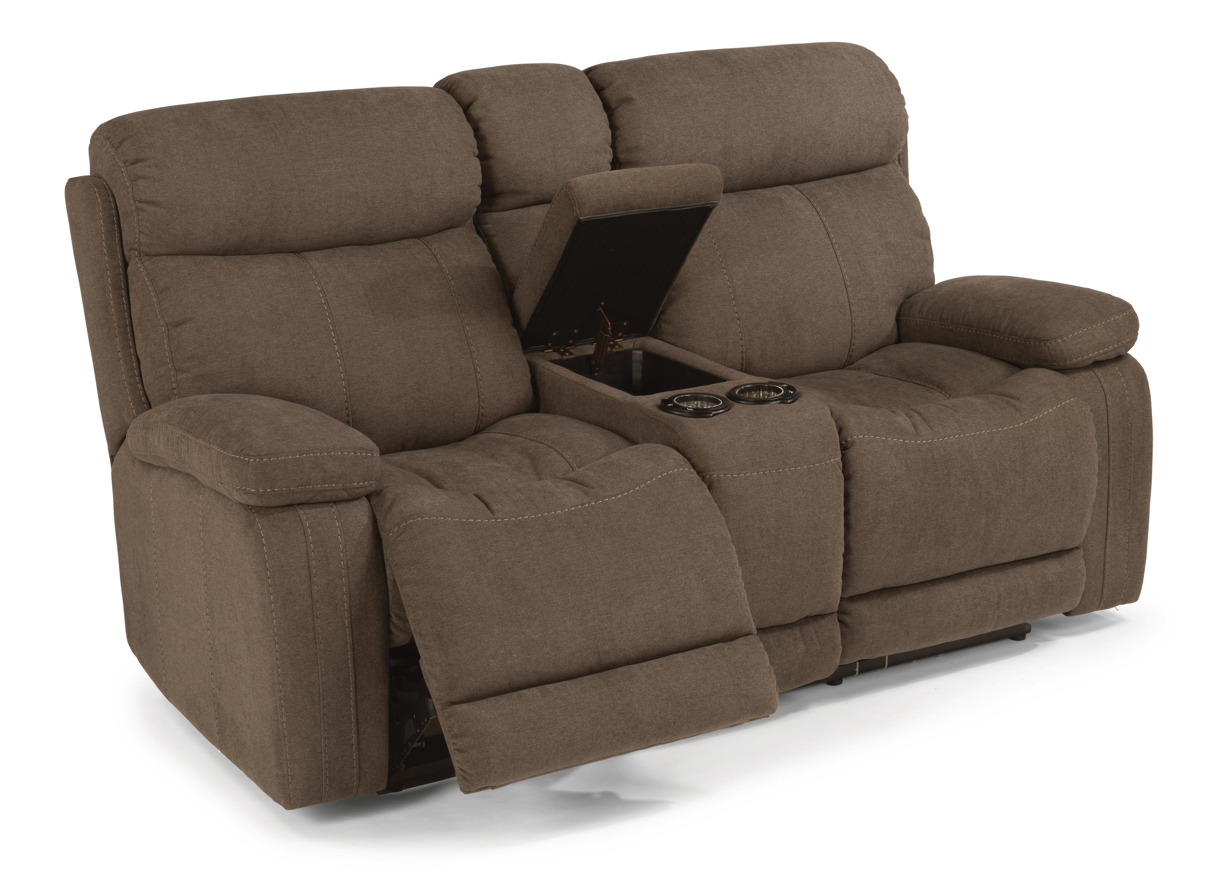 Flexsteel Latitudes-Danika Power Reclining Loveseat w/ Console - Item Number: 1484-604P-414-02