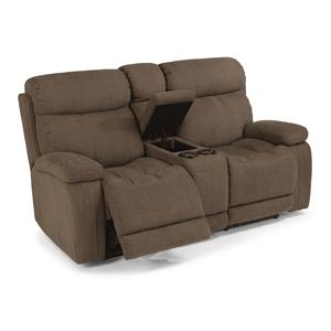 Flexsteel Latitudes-Danika Power Reclining Loveseat w/ Console