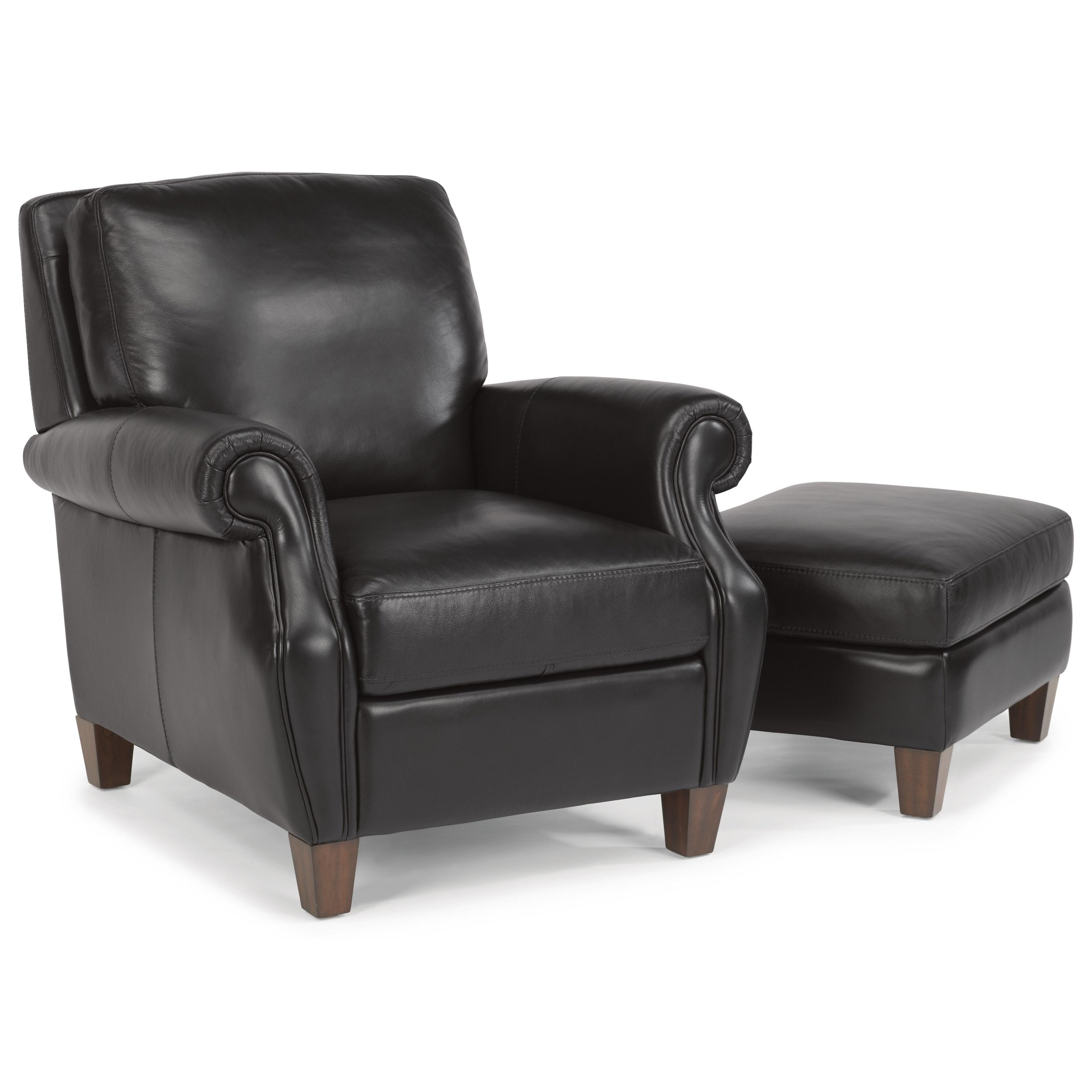 Flexsteel Latitudes-Exton Chair & Ottoman Set - Item Number: 1383-10+1383-08