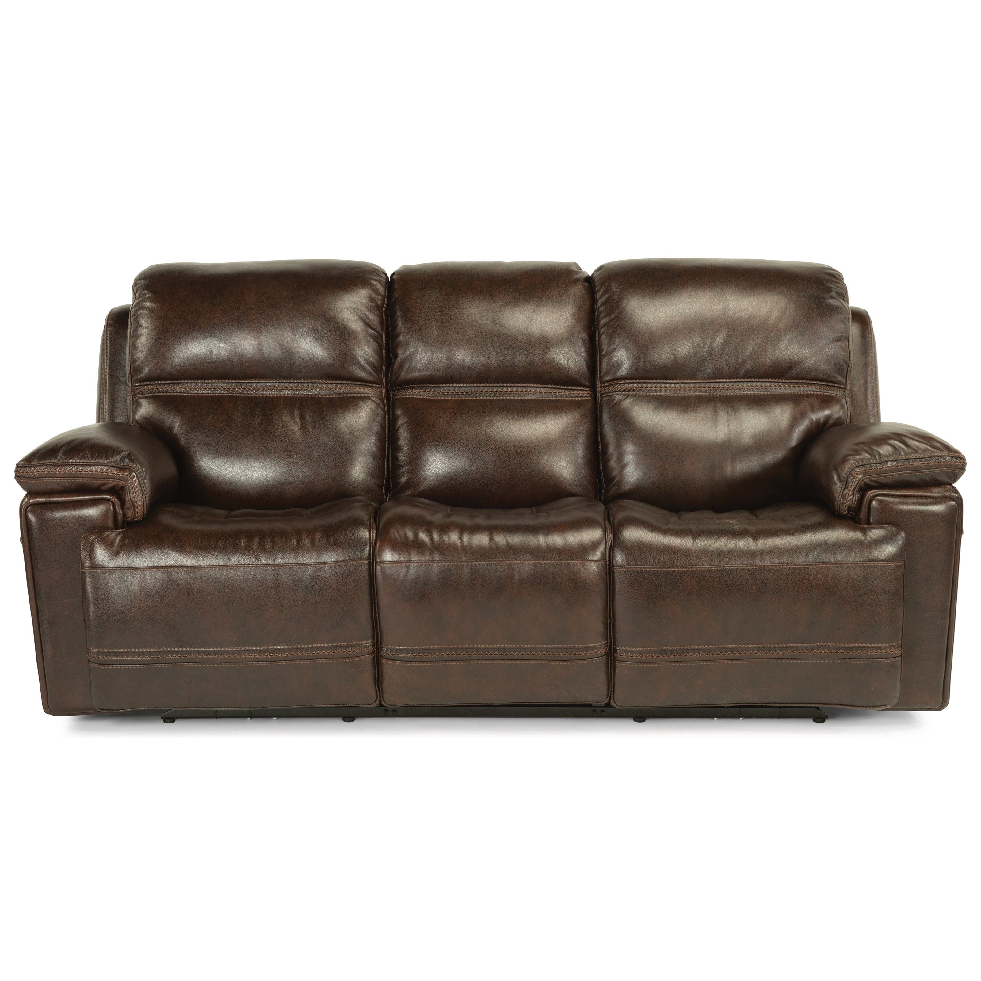 Power Rcl Leather Sofa w/ Pwr Headrest