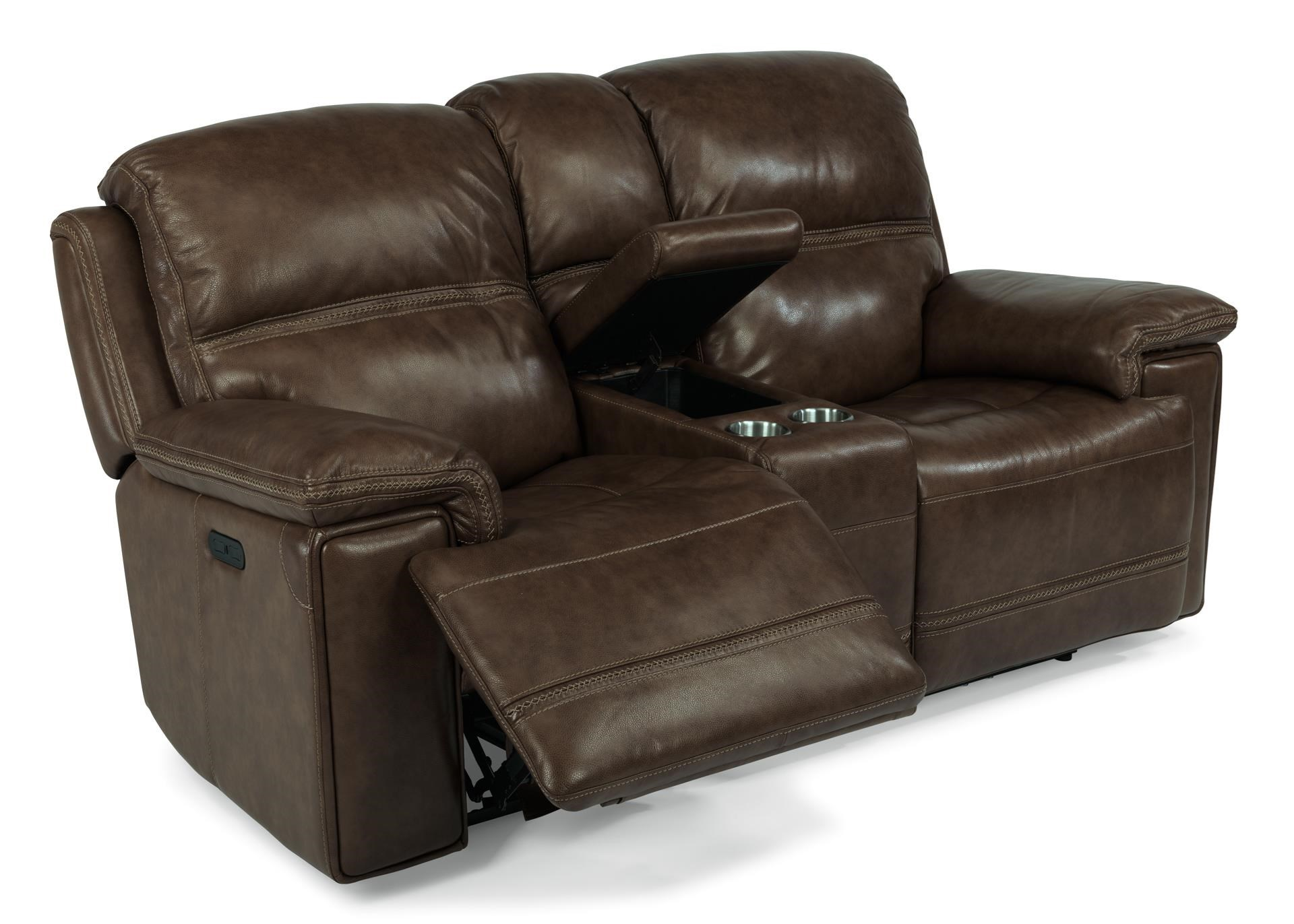 Flexsteel Latitudes-Fenwick Recliner Leather Power Console Loveseat w/ P - Item Number  sc 1 st  Great American Home Store & Flexsteel Latitudes-Fenwick Recliner Leather Power Console ... islam-shia.org